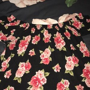 Torrid off shoulder floral top